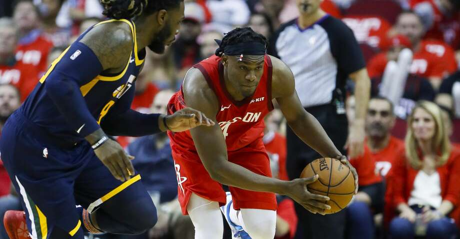 PHOTOS: Rockets-Jazz Game 2 Houston Rockets forward Danuel House Jr. (4) drives past Utah Jazz forward Jae Crowder (99) during the second half of game 2 during  the NBA playoffs at the Toyota Center in Houston, Wednesday, April 17, 2019. Browse through the photos to see action from the Rockets' Game 2 win over the Jazz. Photo: Karen Warren/Staff Photographer