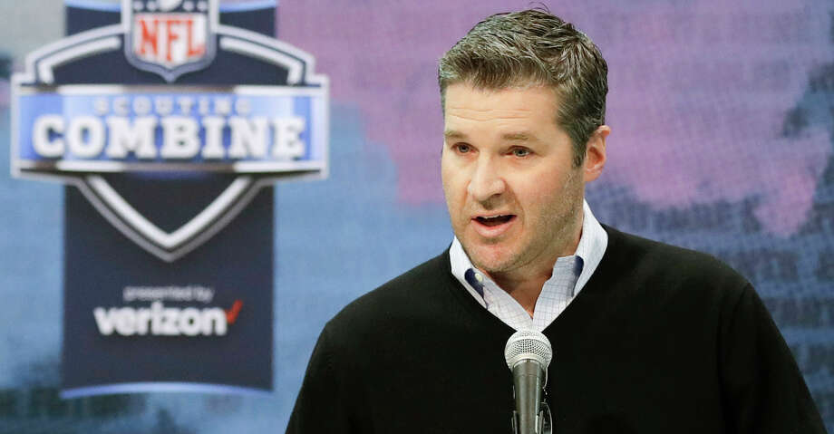 PHOTOS: Texans 2019 schedule  In this Feb. 28, 2019, file photo, Houston Texans general manager Brian Gaine speaks during a press conference at the NFL football scouting combine in Indianapolis. Their first priority in this year's draft should be improving the offensive line after quarterback Deshaun Watson was sacked an NFL-leading 62 times as Houston won the AFC South but lost to the Colts in the wild-card round. (AP Photo/Darron Cummings, File) Browse through the photos to see the Texans' schedule for the upcoming season. Photo: Darron Cummings/Associated Press / Copyright 2019 The Associated Press. All rights reserved