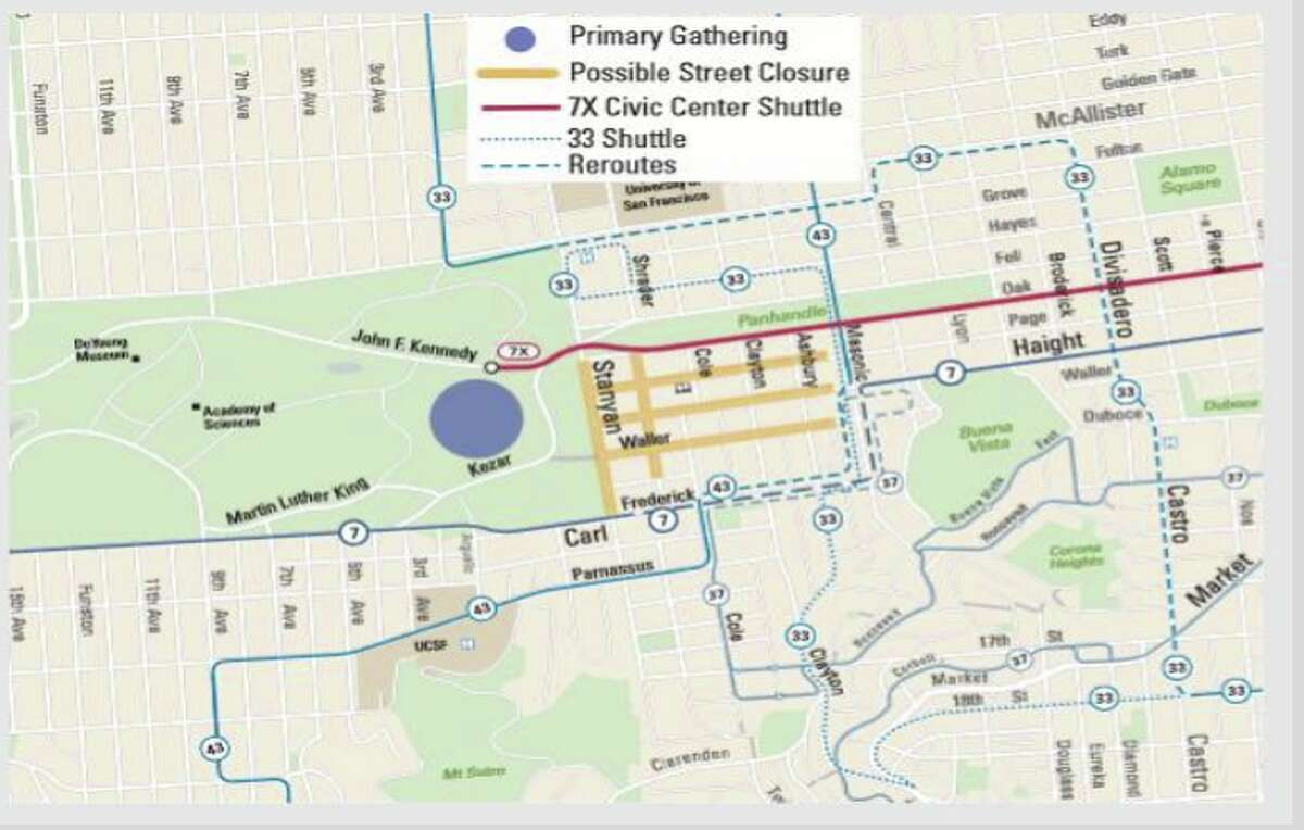 A map outlines what streets may be closed during the 420 celebration.