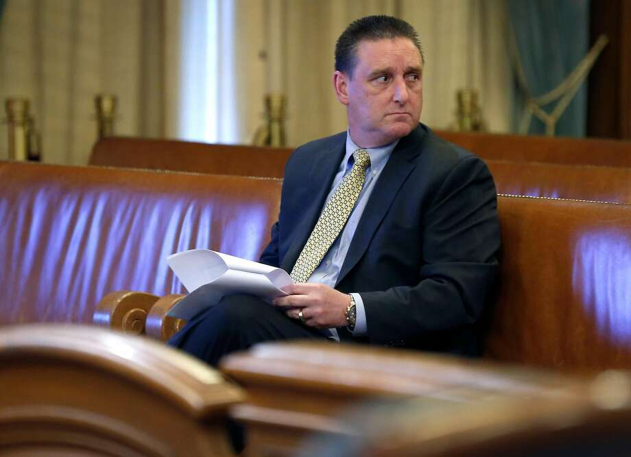 San Francisco Police Cmdr. Greg McEachern waits to appear before the Government Audit and Oversight Committee Thursday. Photo: Paul Chinn / The Chronicle