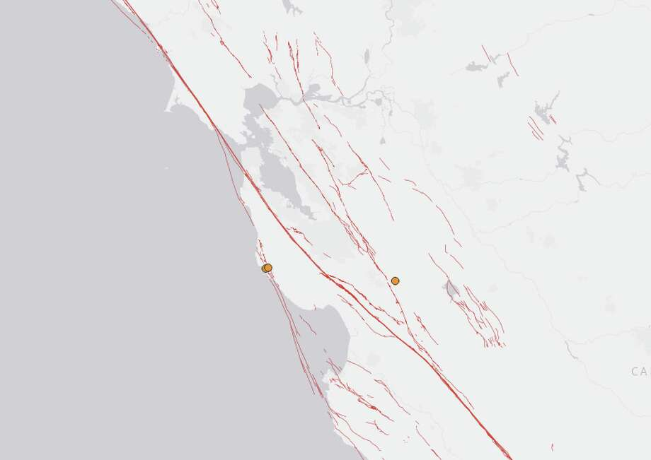 Three small earthquakes struck off the coast of Northern California on Thursday, April 18, 2019. Photo: USGS