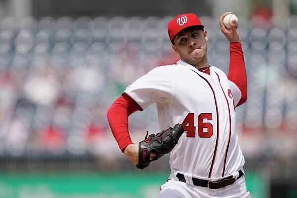 WASHINGTON, DC - APRIL 18: Patrick Corbin #46 of the Washington Nationals pitches in the second inning against the San Francisco Giants at Nationals Park on April 18, 2019 in Washington, DC. (Photo by Patrick McDermott/Getty Images)