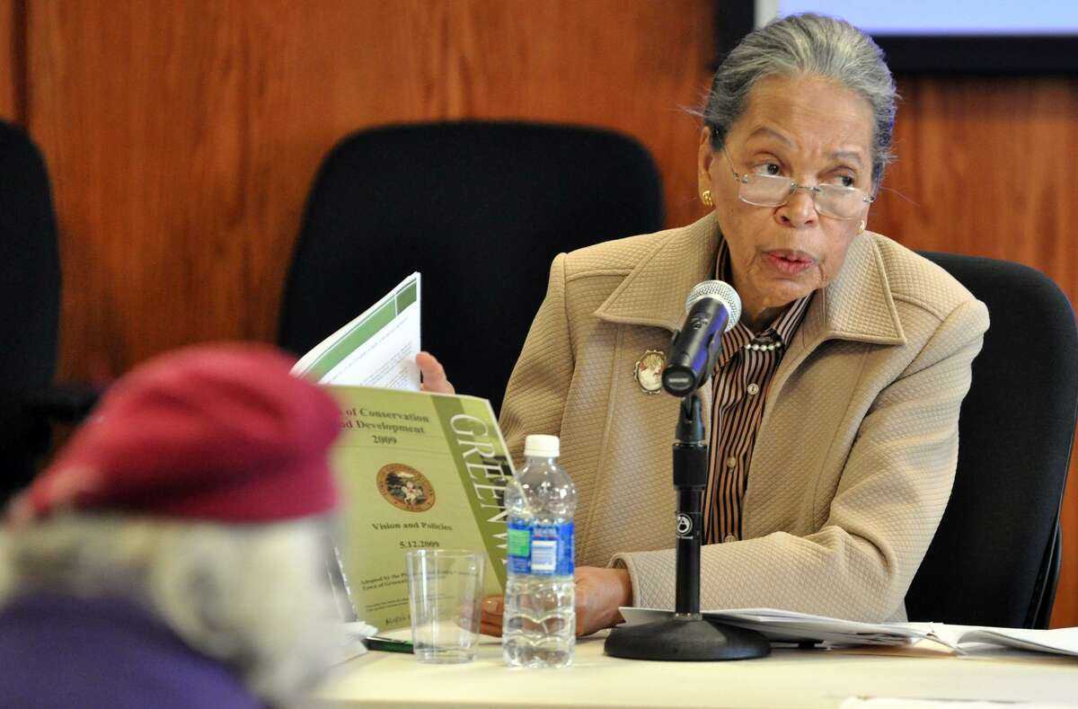 Nancy Brown in 2010. On April 28, Greenwich Democrats will honor the achievements of Mary McNamee and Nancy Brown at the Democratic Town Committee's first Annual Awards Celebration.
