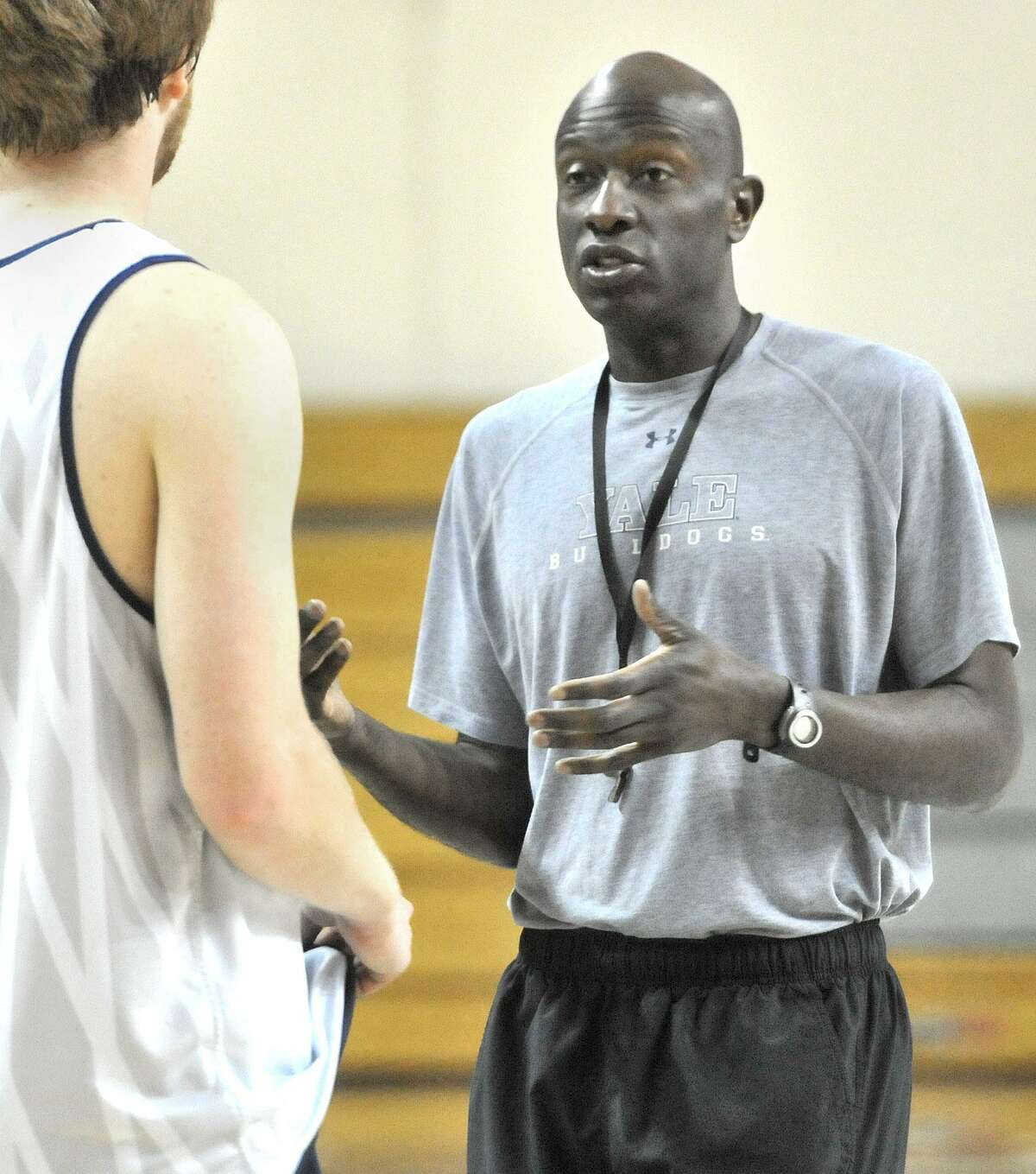 Yale coach James Jones interviewed for the St. John's job on Thursday. Mike Anderson got the job. Photo by Brad Horrigan/New Haven Register-05.13.11.