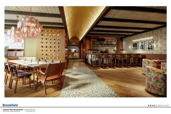 3of10Rendering Of Rosalie Italian Soul, Designed By Kate Roher Of ROHE  Creative, A New Restaurant In The C. Baldwin Hotel Opening In Houston In  Fall 2019.