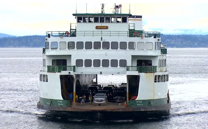 Washington State Ferries announces plan to reduce emissions, protect whales