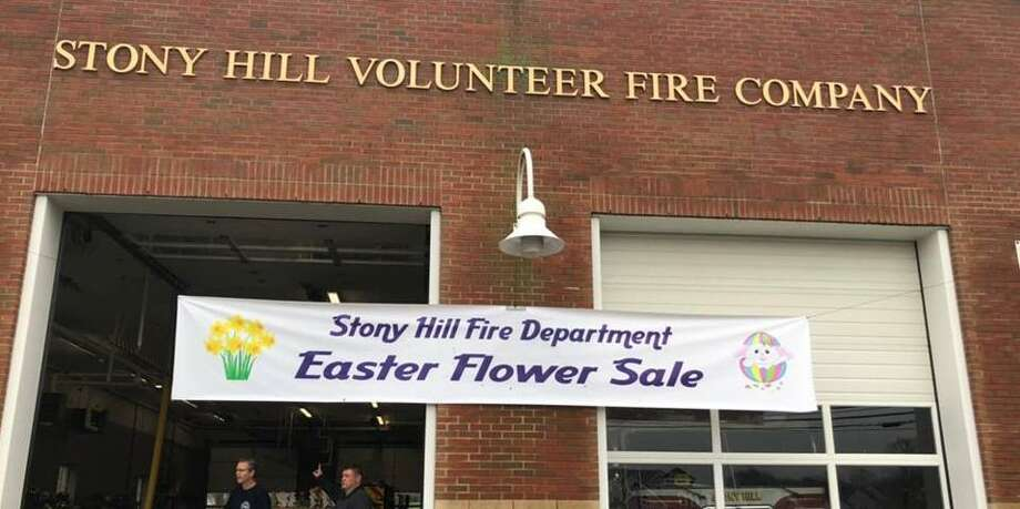 Flower and other Easter items are being sold at the Stony Hill Volunteer Fire Company station in Bethel, April 19-21, 2019. Photo: Stony Hill Volunteer Fire Company / Facebook