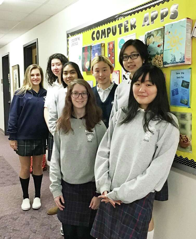 Mercy High School in Middletown earned the first College Board AP Computer Science Female Diversity Award for achieving high female representation in AP Computer Science Principles and AP Computer Science classes. Photo: Contributed Photo
