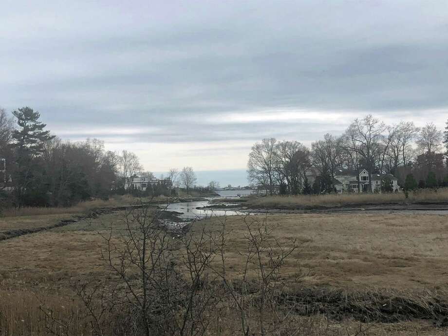 A cloudy sky over the wetlands by the Westport train station on April 11, 2019. Photo: Melanie Espinal / For Hearst Connecticut Media