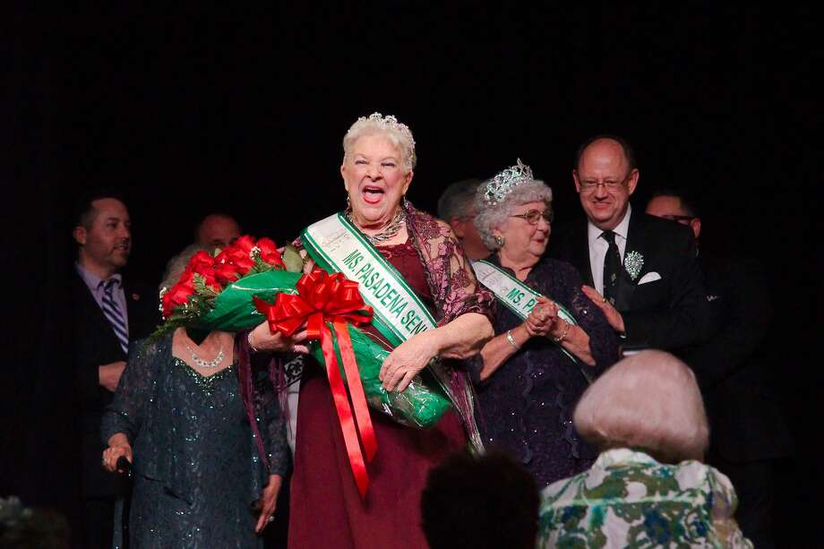Ms. Alice Moore is crowned 2019 Ms. Pasadena Senior Pageant Queen during the pageant ceremony Thursday, Apr. 18 at the Pasadena Convention Center. Photo: Kirk Sides/Staff Photographer