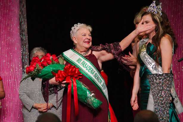 Ms. Alice Moore is crowned 2019 Ms. Pasadena Senior Pageant Queen during the pageant ceremony Thursday, Apr. 18 at the Pasadena Convention Center.