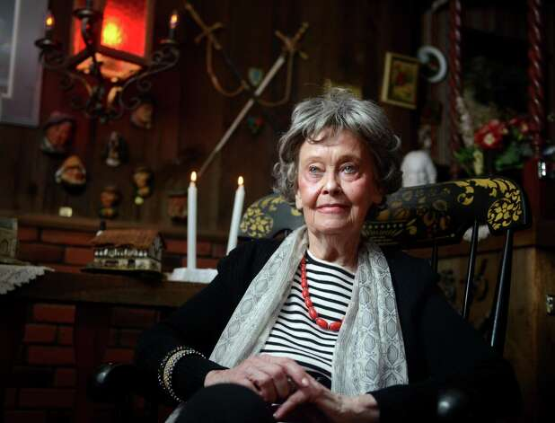 """Renowned paranormal investigator Lorraine Warren, 85, at her home in Monroe, Conn. Friday, Oct. 18, 2013. The Warrens investigated a small home in West Pittston, Pa. that was supposedly experiencing """"paranormal activity"""" that was unlike most of what they had they investigated at the time. A demonic entity was claimed to have thrown the family's dog and pushed their daughter down the stairs. The haunting would be turned into the 1991 made-for-TV movie """"The Haunted."""" Photo: Autumn Driscoll / Autumn Driscoll / Connecticut Post"""