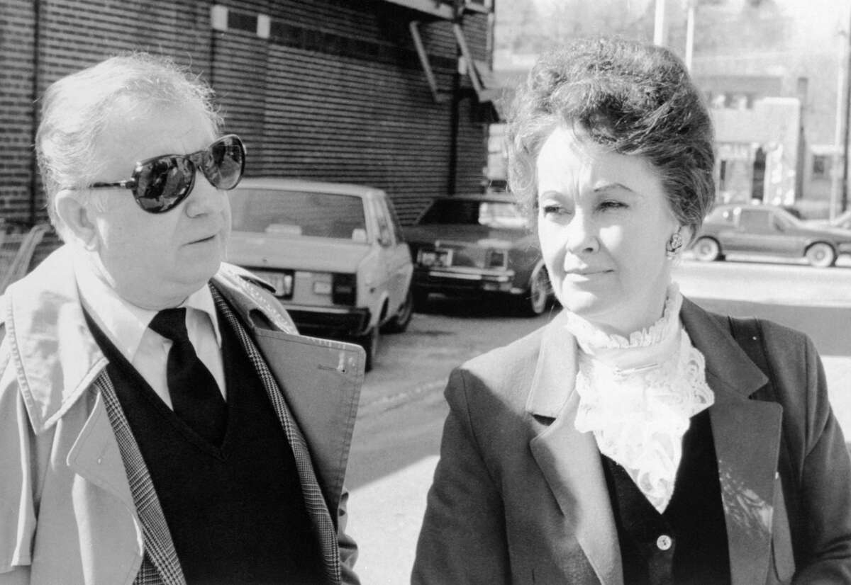 """Ed and Lorraine Warren arrives at Danbury Superior Court, March 19, 1981, where a grand jury returned an indictment against Arne Cheyenne Johnson in the slaying of Alan Bono, 40, on February 16, 1981, in Brookfield, Connecticut. This Brookfield paranormal trial is the basis behind the latest """"Conjuring"""" movie - """"The Conjuring: The Devil Made Me Do It."""" In 1981, Arne Cheyenne Johnson stabbed and killed Alan Bono, claiming that he was possessed by a demon when he committed the murder. This was the first time in the American court system where a defendant claimed """"demonic possession."""" According to a 1981 article from the New York Times, the Warrens spent time with Johnson and his family and claimed rationale in the """"demonic possession"""" theory. However, a judge ultimately disregarded this theory and sentenced Johnson to prison, where he served five years before being released."""