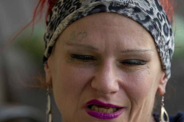 """I've been shot in a drive-by, I've been raped too many times to count,"" said Kristen Howk, 46. Howk attends Kathryn Griffin's support group for ex-prostitutes and sex trafficking victims. ""I have stab wounds all over my body,"" said Howk."