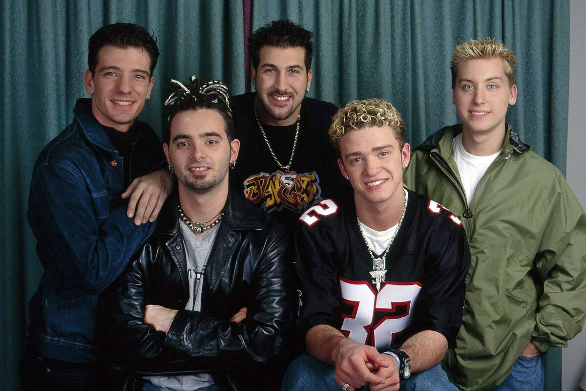 Then: NSYNC The boys of NSYNC pose for a promotional shot, with the highlight being JT's frost tips.