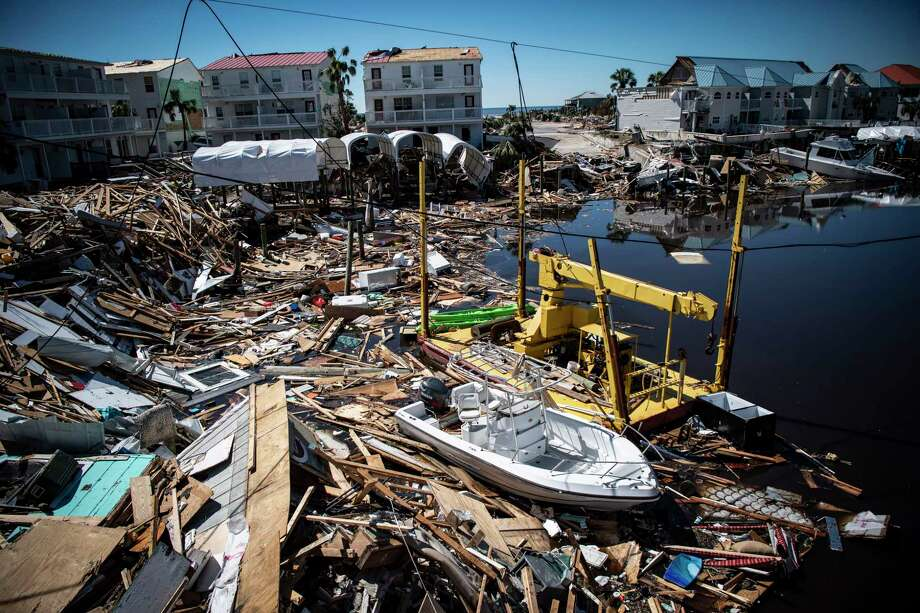 The remains of homes, buildings and boats are seen after Hurricane Michael made land fall along the Florida panhandle on Oct. 12, 2018, in Mexico Beach, Fla. Photo: Washington Post Photo By Jabin Botsford / The Washington Post