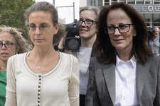 Seagram's liquor empire heiress Clare Bronfman, left, and Kathy L. Russell, right, a longtime bookkeeper for NXIVM, both are scheduled to plead guilty to federal criminal charges on Friday afternoon in Brooklyn.