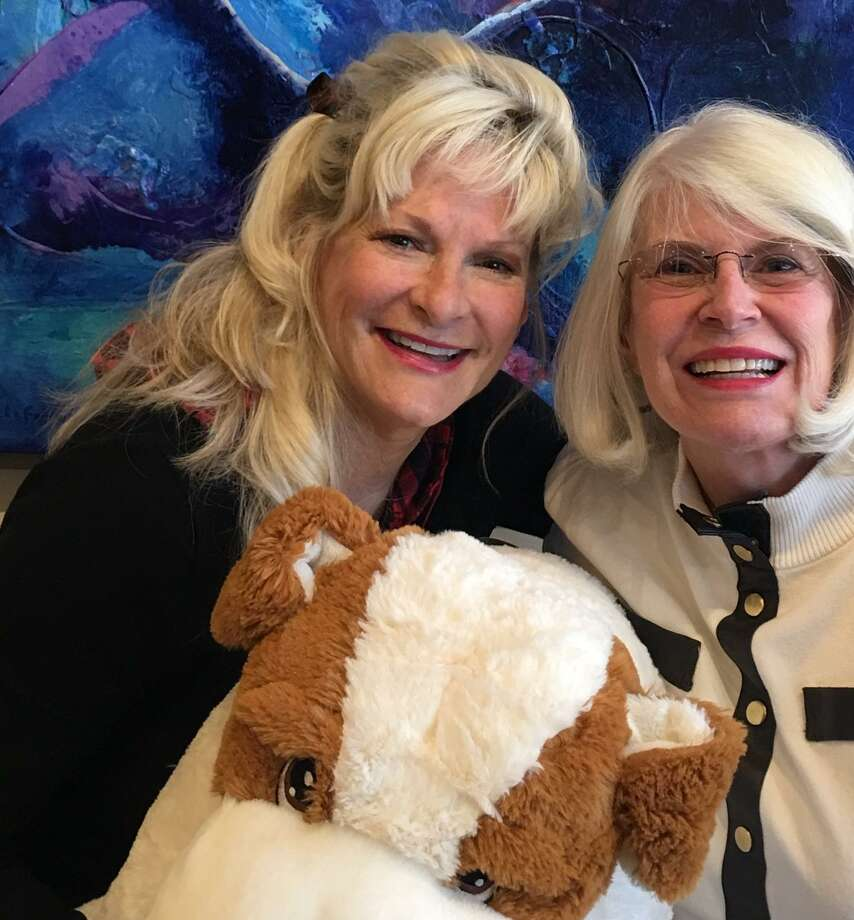 Diane Deaton, left, and Marie Underdown, right, are the co-chairs for the upcoming Bow Wow Bingo on Thursday, May 2, from 2 to 4 p.m. at the Conroe Art League Gallery. Photo: Courtesy Photo