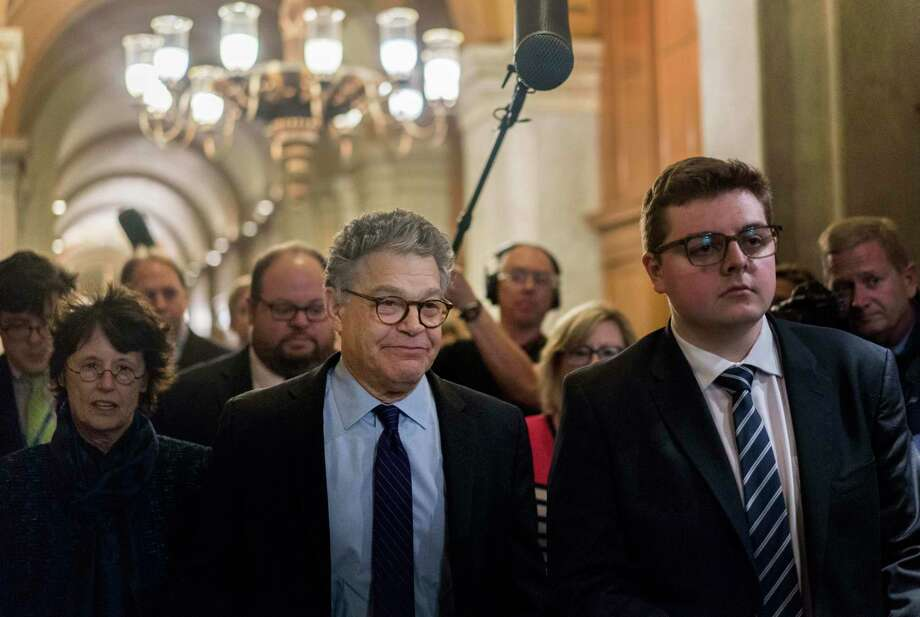 Sen. Al Franken, D-Minn, leaves the Senate floor after delivering his resignation speech in December 2017. Photo: Washington Post Photo By Melina Mara / The Washington Post