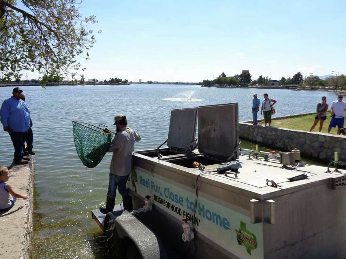 The Texas Parks and Wildlife Department's Neighborhood Fishin' program stocked catfish April 18 in the lake at Mary Jo Peckham Park, 5597 Gardenia Lane in Katy. It is one of four Houston area parks that participate in the program and offer fishing to residents.