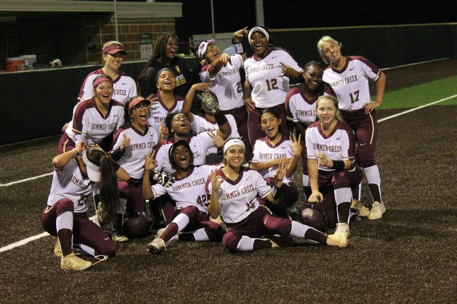 Summer Creek won its first district title in school history after defeating South Houston 15-0 in three innings at the Sitton Family Field Tuesday night. Photo: Marcus Gutierrez/staff Photo