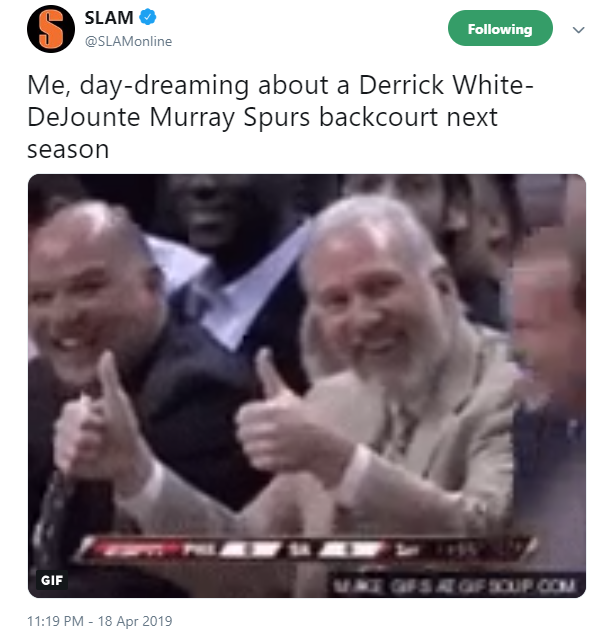 From Whataburger to national media, everyone was talking about Spur Derrick White's career-high game