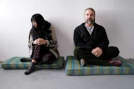 """Lisa Alvarado and Joshua Abrams of Natural Information Society. The song """"Finite"""" is a standout from the group's new album, """"Mandatory Reality."""""""