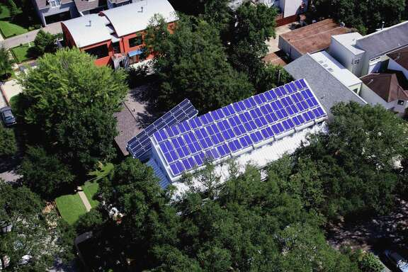 This home on Virginia Street has 14-solar panels on the roof.