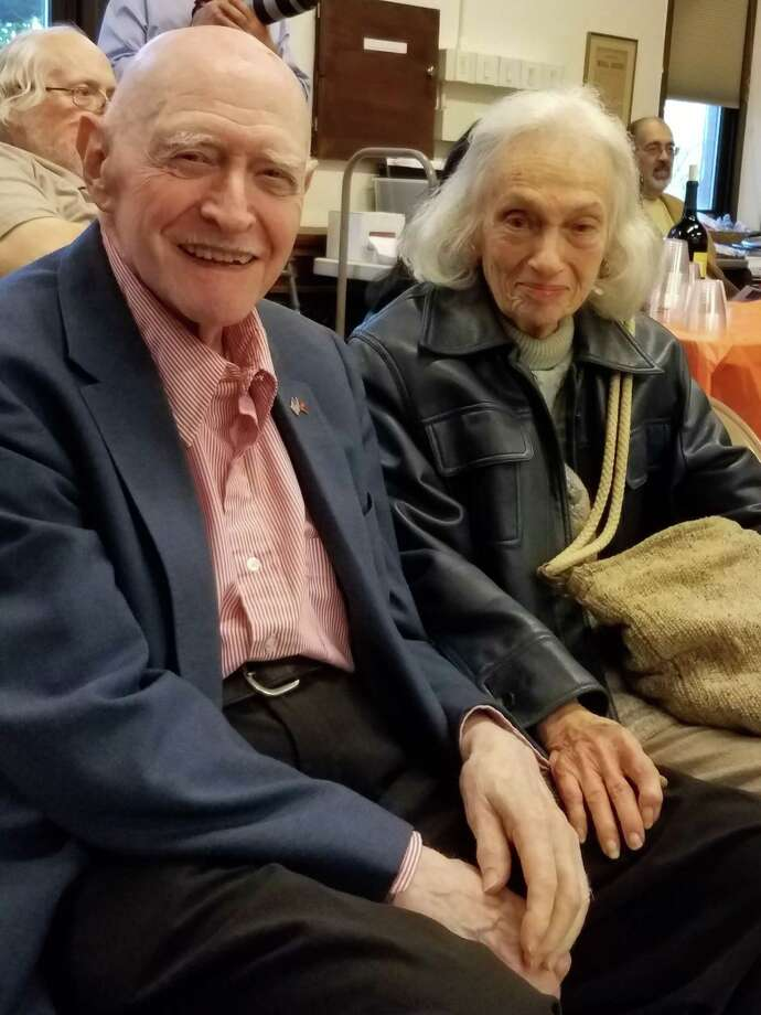 "Mildred ""Millie"" Siegel, with husband Mort, will be honored with a memorial, dedication and fundraising concert at the Danbury Music Center May 24. Photo: Barbara Adams Jaeger / Contributed Photo"