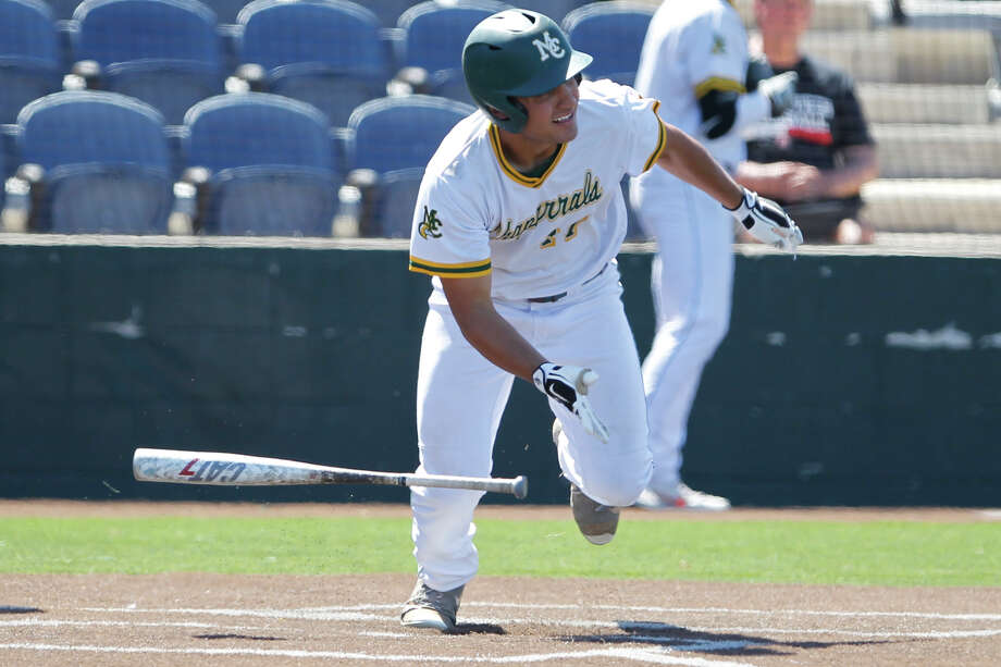 Midland College's Randy Huerta hits against Odessa College in game two of a doubleheader April 19, 2019, at Christensen Stadium. James Durbin / Reporter-Telegram Photo: James Durbin / Midland Reporter-Telegram / ? 2019 All Rights Reserved
