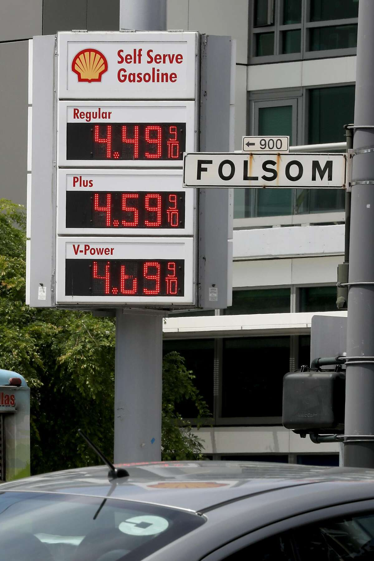 Rising gas prices become an extra cost for Lyft and Uber drivers on Friday, April 19, 2019 in San Francisco, Calif.