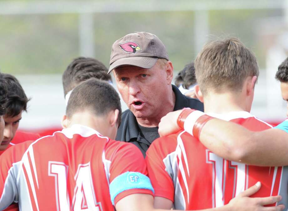 Greenwich High School rugby coach Joe Kelly may be running out of options to try and be both a coach and a member of the town's Board of Education. But he is not giving up and is looking at asking the board to change its bylaws. Photo: Bob Luckey / Bob Luckey / Greenwich Time