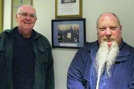 Past Master Phillip Birkett and Past Master and current Chaplain Mark Dzurnak.