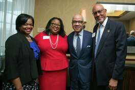 Marian Harper, from left, Muriel Fuentes, Darren Walker and C.B. Claiborne