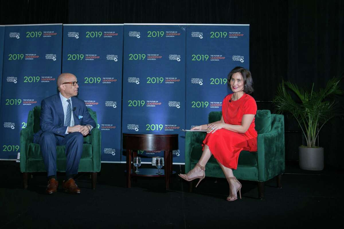 Darren Walker and Laura Arnold at the Center for Houston's Future luncheon