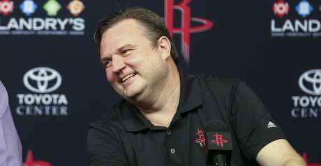 Houston Rockets general manager Daryl Morey speaks at an end of the season press conference at the Toyota Center Wednesday, May 30, 2018 in Houston. (Michael Ciaglo / Houston Chronicle)