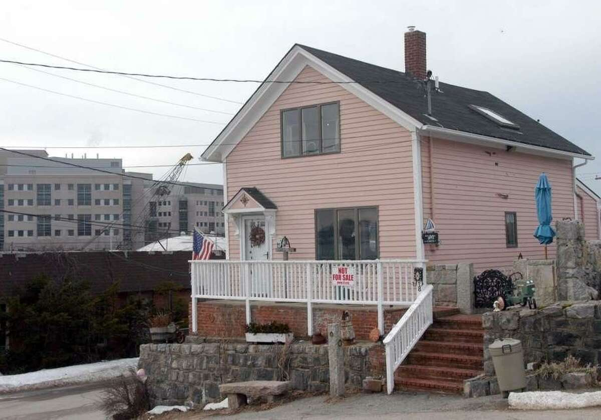 This Feb. 8, 2005 file picture shows the home of Susette Kelo in the Fort Trumbull section of New London. The small house was once at the center of a U.S. Supreme Court decision on government seizure of private property.