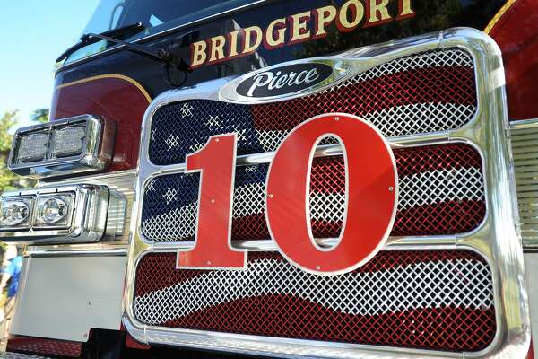 File photo of Ladder 10 at an unveiling ceremony at the Bridgeport Fire Department's East Side station at 950 Boston Ave. in Bridgeport, Conn. on Wednesday, September 27, 2017.