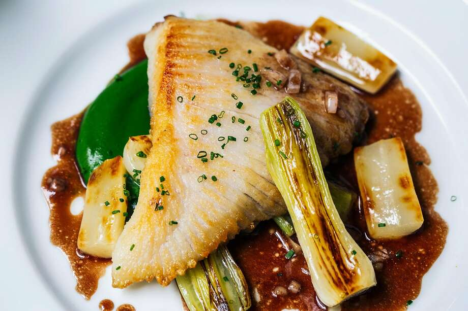 Skate wing bordelaise photographed at Verjus in San Francisco, Calif. on Monday, April 1, 2019. Photo: Stephen Lam, Special To The Chronicle