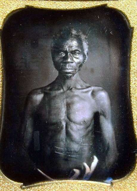 This July 17, 2018 copy photo shows a 1850 Daguerreotype of Renty, a South Carolina slave who Tamara Lanier, of Norwich, Conn., said is her family's patriarch. The portrait was commissioned by Harvard biologist Louis Agassiz, whose ideas were used to support the enslavement of Africans in the United States. Lanier filed a lawsuit on Wednesday, March 20, 2019, in Massachusetts state court, demanding that Harvard turn over the photo and pay damages.