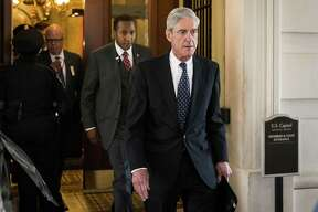 In this file photo, Robert Mueller, the special counsel, walks through the U.S. Capitol in Washington, D.C. on June 21, 2017. Mueller's report was made public last week.