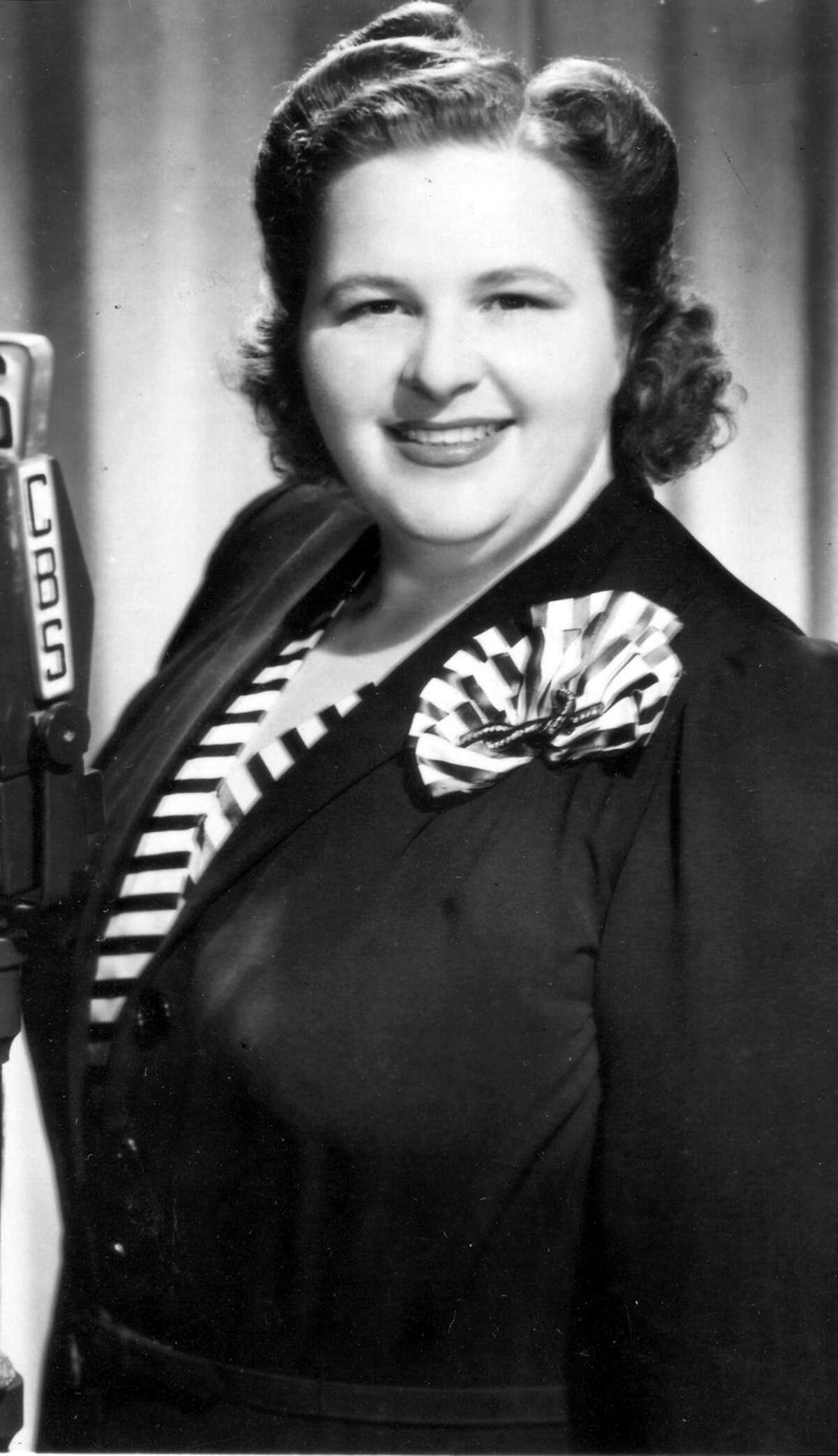 Singer Kate Smith, known for her rendition of