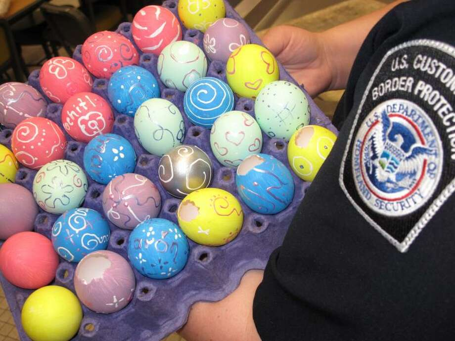 With Easter around the corner, CBP is reminding the public of the dangers that can come from cascarones. Photo: CBP