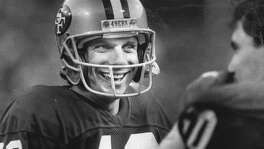 Quarterback Joe Montana wears a victory smile December 22, 1985  Photo ran 12/23/1985, p.D3