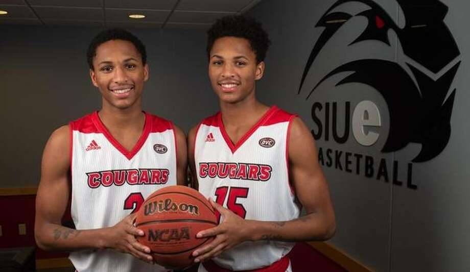 Pictured are Shamar, left, and Lamar Wright. They recently signed to play basketball at SIUE. Photo: SIUE