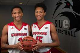Pictured are Shamar, left, and Lamar Wright. They recently signed to play basketball at SIUE.