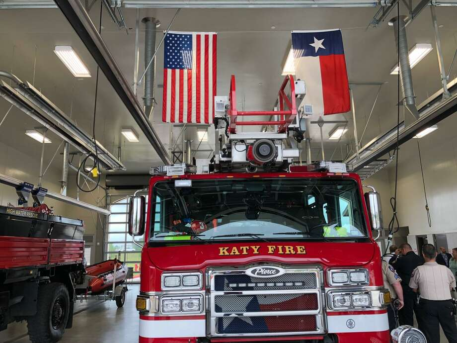The Katy Fire Department celebrated earning a Class 1 rating from the Insurance Services Office last week. Photo: Mike Glenn / Staff Photo