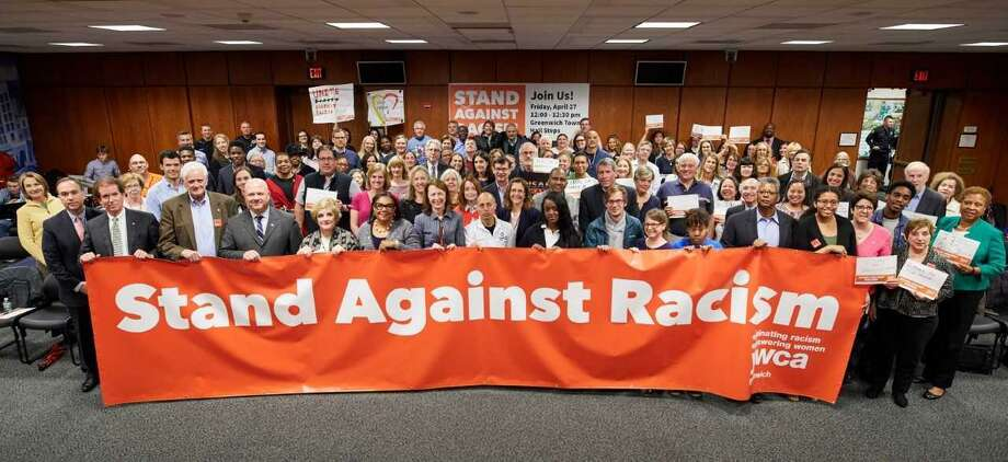 YWCA Greenwich will holds 11th Annual Stand Against Racism will take place from noon to 12:30 p.m. Friday at Greenwich Town Hall. All members of the community are invited to participate. Photo: Contributed