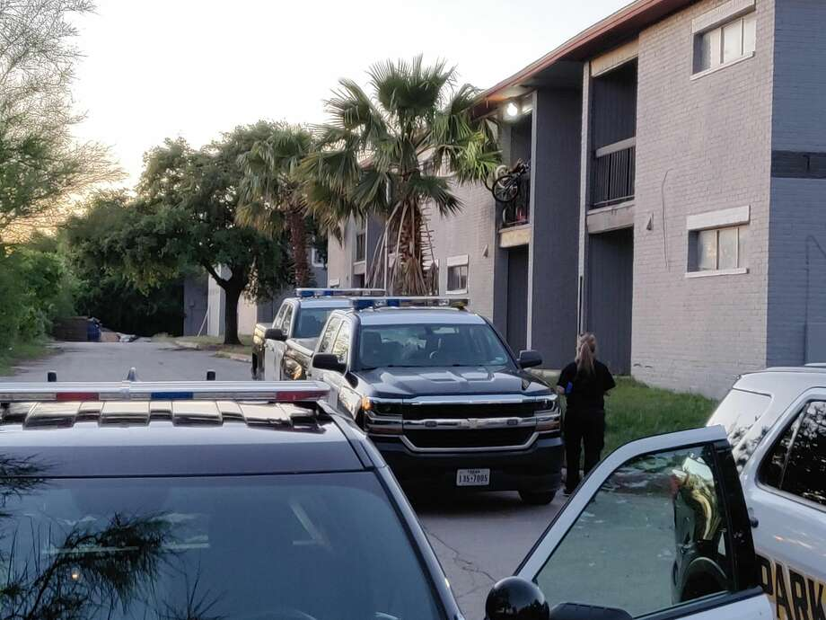 A man was shot about 6 p.m. in the parking lot of the Edge Apartments, 3735 E. Commerce Street. Photo: Jacob Beltran