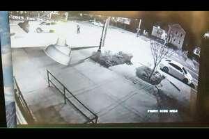 A screenshot of the video posted by Fox 61 that shows another angle of the police-involved shooting in New Haven. This new footage was posted by the news organization April 19. The non-fatal shooting took place on Tuesday, April 16.